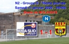 N2 – 16e journée : JURA SUD FOOT 1-1 AS SAINT-PRIEST, mi-temps 0-1